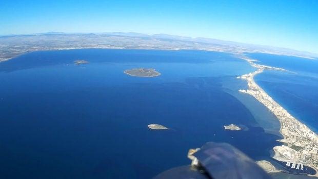 Imagen aérea del Mar Menor