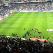 Partido en el estadio Tartiere de Oviedo