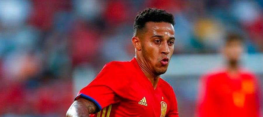 Thiago Alcántara durante un partido