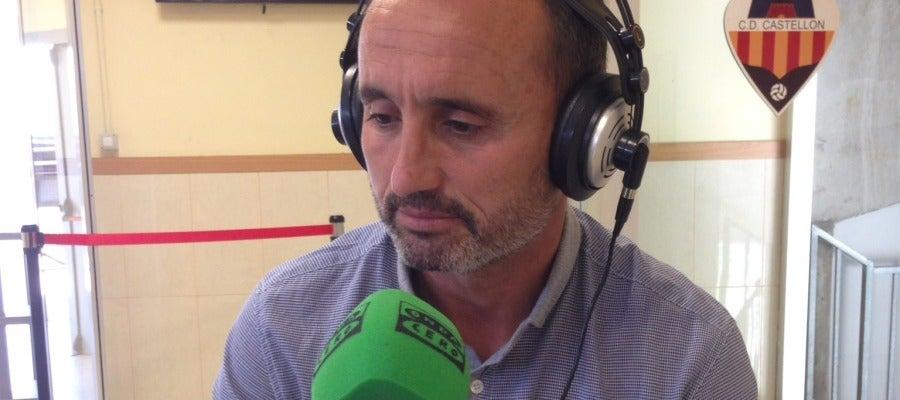 El técnico del Castellón Kiko Ramírez, en el programa especial de Onda Cero
