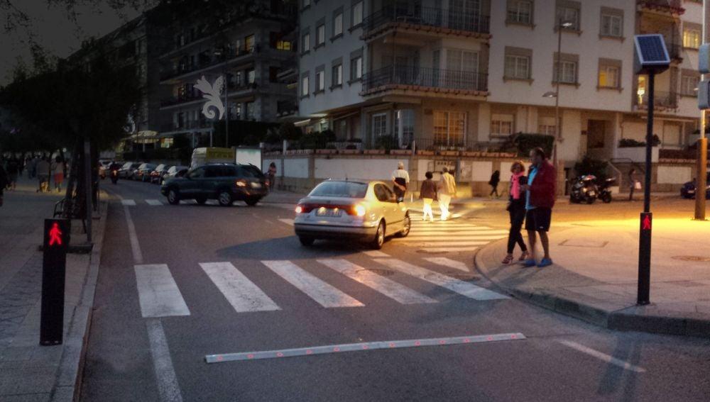 Paso peatones lumínico