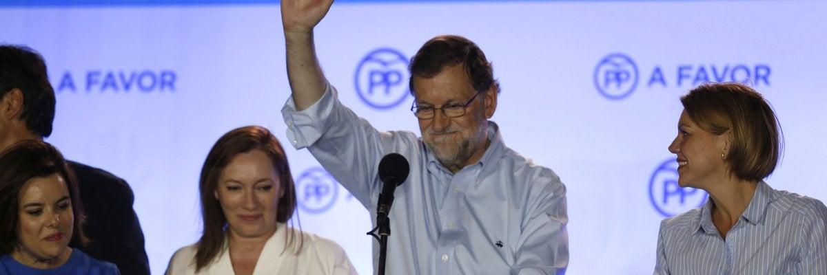 """Mariano Rajoy: """"Habéis ganado las elecciones porque habéis tenido fe en la victoria"""""""
