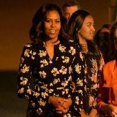 Michelle Obama junto a la princesa Lailla Salma de Marruecos