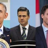 Barack Obama, Enrique Peña Nieto y Justin Trudeau