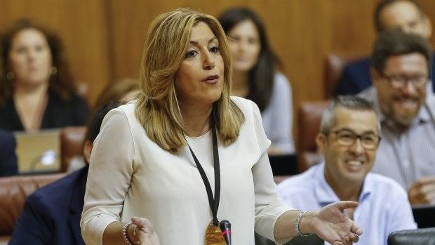 La presidenta andaluza, Susana Díaz, en una de sus intervenciones