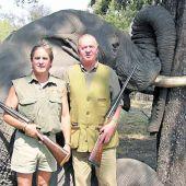 El Rey emérito cazando elefantes en Botswana