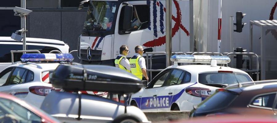 Controles de tráfico en la frontera entre España y Francia