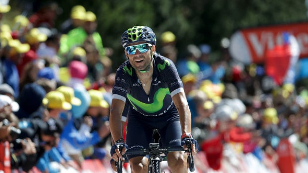 """Alejandro Valverde: """"Las caídas vienen por la presión y porque todo el mundo quería ir delante"""""""