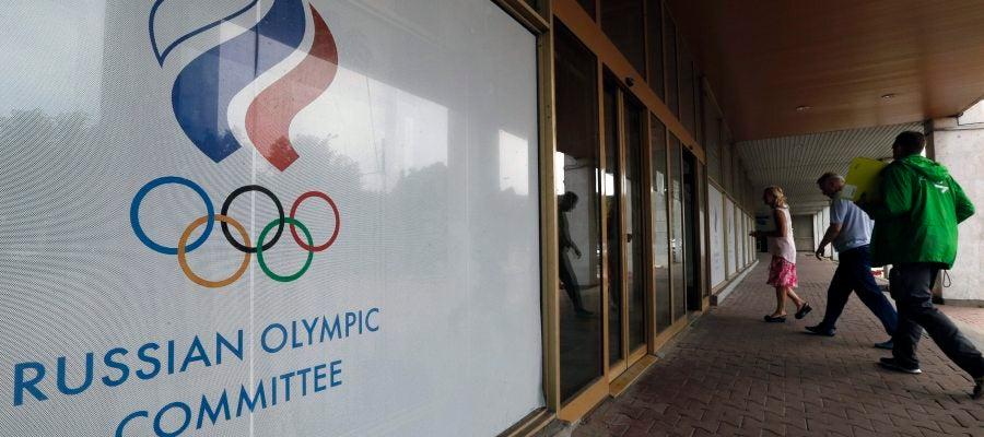 La sede del Comité Olímpico de Rusia (COR) en Moscú