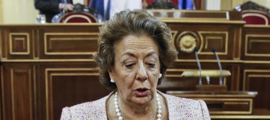Rita Barberá durante la sesión en el Congreso