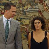 El rey Felipe recibió en el Palacio de la Zarzuela a la diputada de En Marea-Podemos, Alexandra Fernández