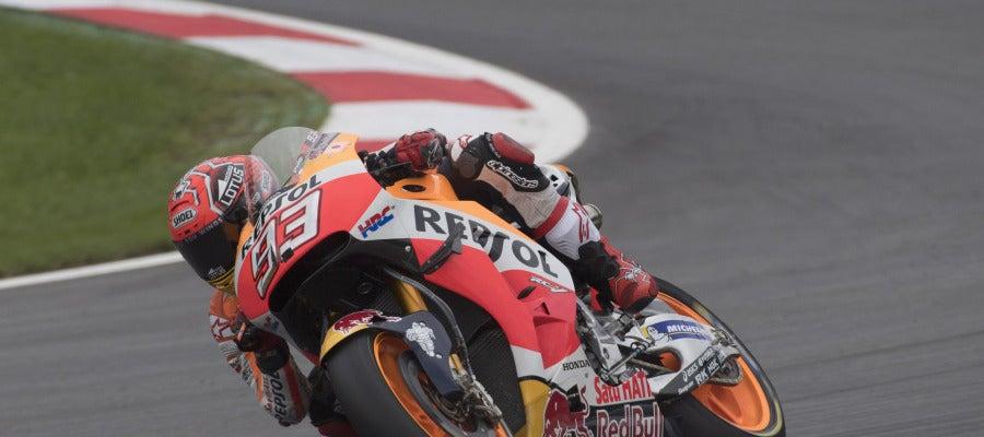 Marc Márquez disputando los entrenamientos libres del Gran Premio de Austria