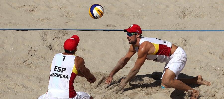 Herrera y Gavira, durante un partido en Río 2016