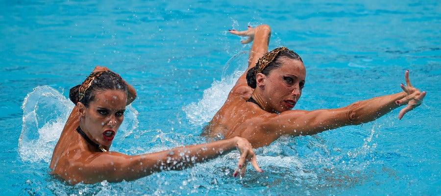 Ona Carbonell y Gemma Mengual, en natación sincronizada