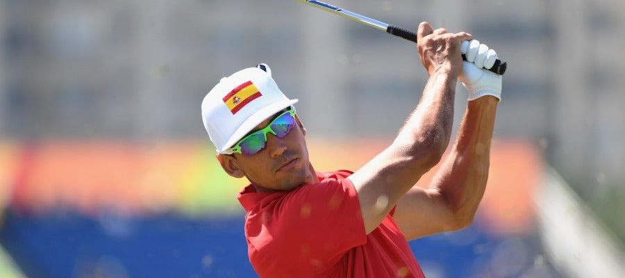 Rafa Cabrera, durante el torneo de Golf en Río 2016