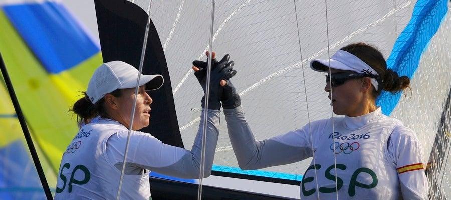 Tamara Echegoyen y Berta Betanzos, durante la prueba