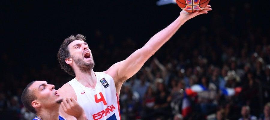 Pau Gasol y Gobert en el Eurobasket de 2015