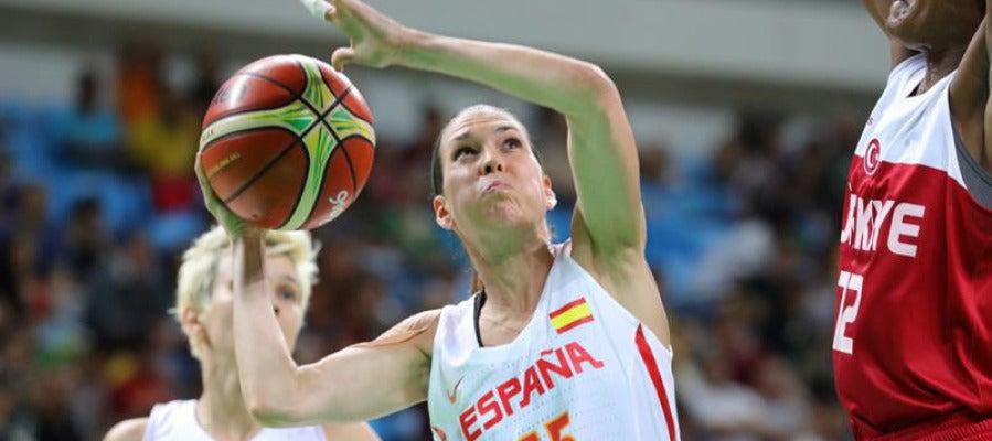 Anna Cruz durante el partido contra Turquía