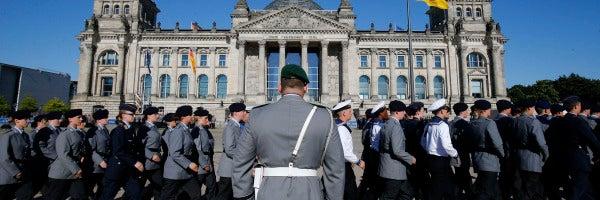 Los soldados de las fuerzas armadas alemanas en Bundeswehr, Berlín.