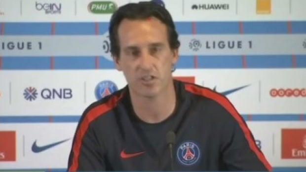 Unai Emery se hizo viral con su llamativa pronunciación en francés