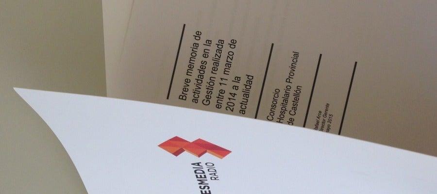 Onda Cero Castellón ha tenido acceso al informe que Rafael Arce presentó ante todos los miembros del Consejo de Gobierno del Provincial el día que se anunció su cese.
