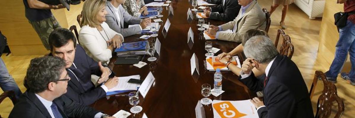 Negociaciones entre PP y C's