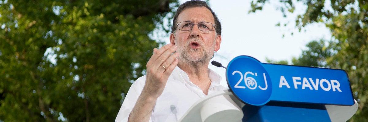 Mariano Rajoy durante un acto en Cotobade (Pontevedra)