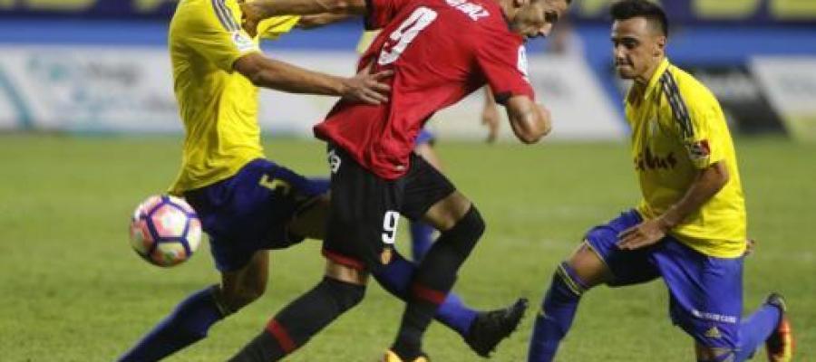 El autor de gol del Mallorca, Óscar Díaz