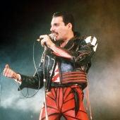Freddie Mercury, en un concierto en Sidney.