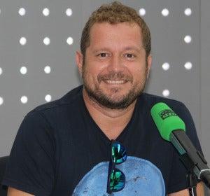 Sergio Fernández, El monaguillo, en los estudios de Onda Cero