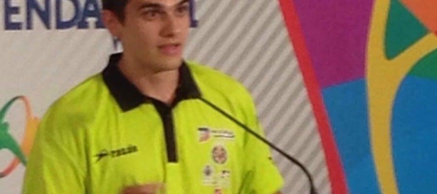 El atleta del Playas, Bruno Hortelano