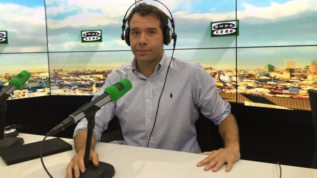 Rubén Amón en los estudios de Onda Cero