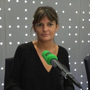 Pilar Gómez en los estudios de Onda Cero