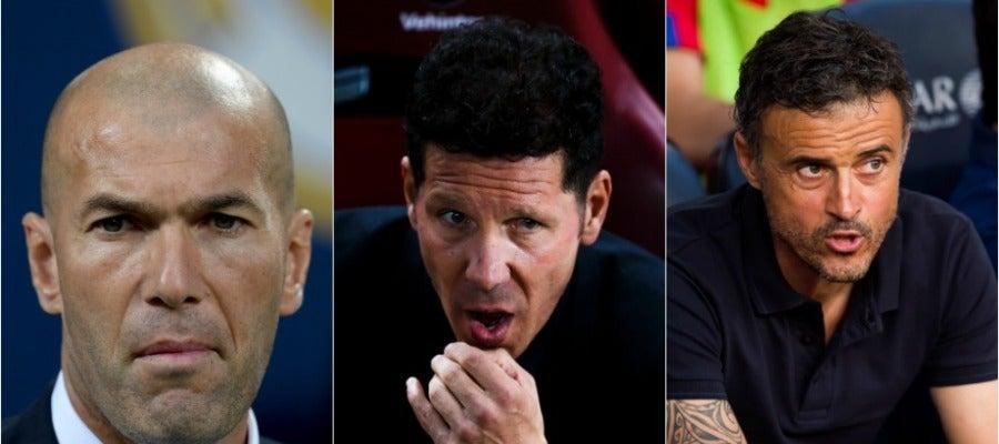 Zidane, Simeone y Luis Enrique