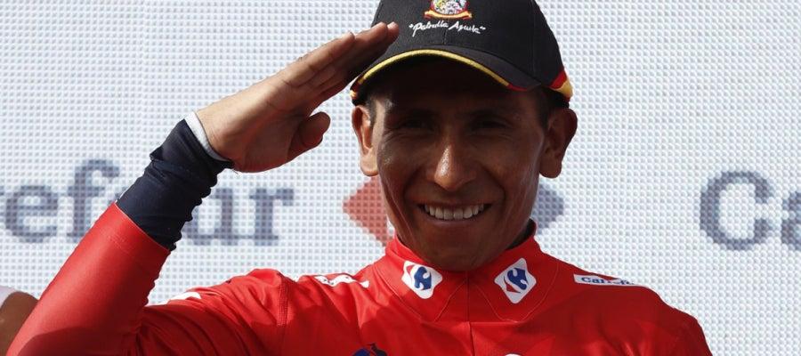 Quintana luce el rojo en la Vuelta