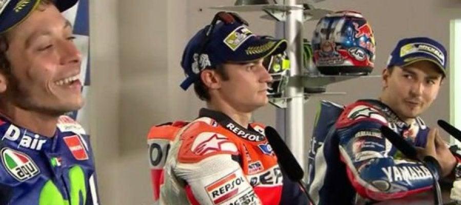 Bronca en rueda de prensa entre Lorenzo y Rossi