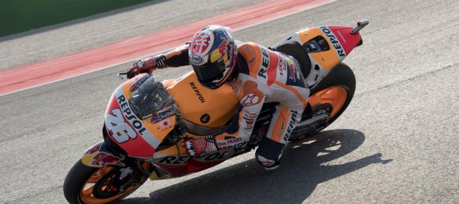 Dani Pedrosa rueda en San Marino