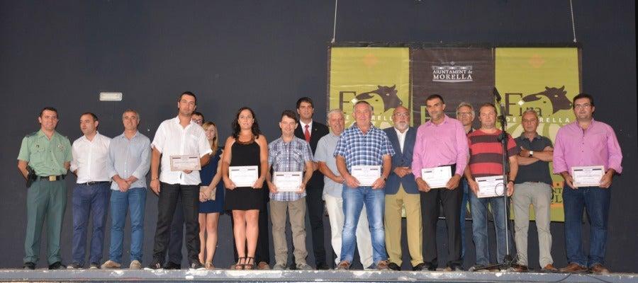 Los homenajeados en la Fira han sido Miguel Pitarch, Ramón Tena, José Miguel Barreda, Rafael Martín, Manolo Guimerà, Amadeo Sorribes, Joel Pascual y Silvia Ferrer.