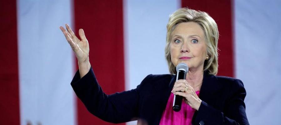 La candidata a la presidencia de EEUU por el partido Demócrata Hillary Clinton