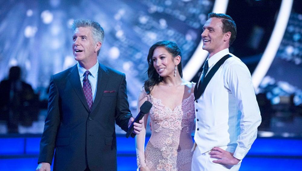 Ryan Lochte durante su actuación en el programa 'Dancing with the Stars'