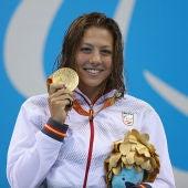 Nuria Marqués Soto tras ganar su medalla de oro