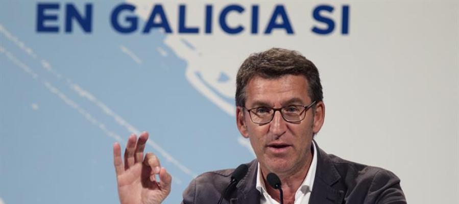 Alberto Núñez Feijóo, protagoniza el acto electoral central de la jornada