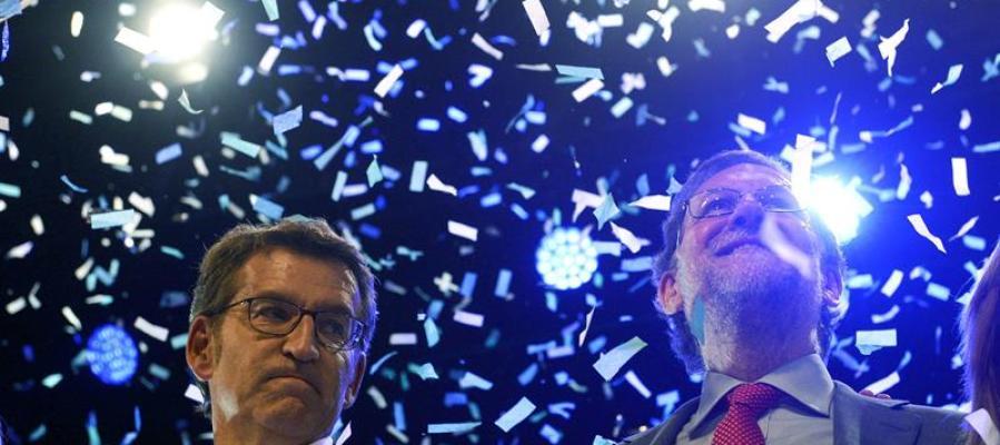 Mariano Rajoy apoya al candidato popular en las elecciones gallegas