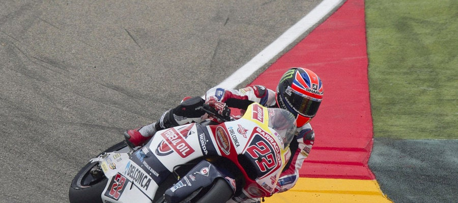 Sam Lowes, durante la carrera