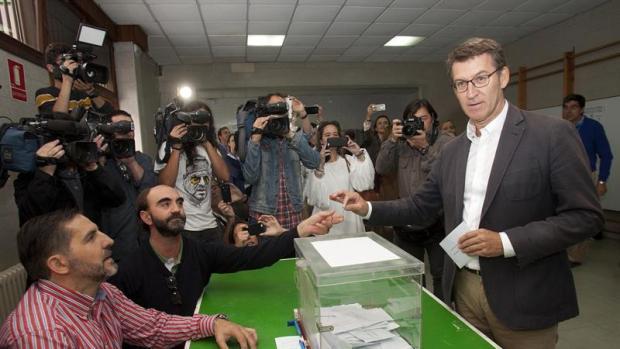El candidato del PP a Galicia, Alberto Nuñez Feijóo