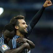 Rossi y Sisto celebran el gol del italiano.