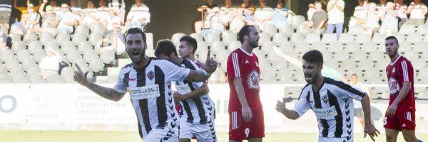 Los jugadores del Castellón celebran un gol, esta temporada
