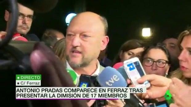 """Antonio Pradas: """"Luena ya no es secretario de Organización y la Ejecutiva ya no está legitimada"""""""