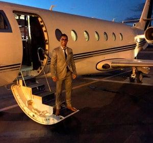 Cristiano Ronaldo y su avión