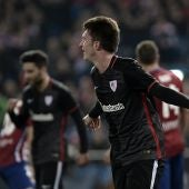 Laporte celebra un gol con el Athletic